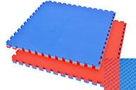 Tatami Puzzle, 4cm, Bleu/Rouge, Motif en T, Polyvalent