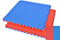 Tatami rompecabezas, 4cm Azul/Rojo