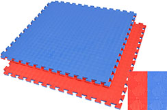 Puzzle Mat, 2.5cm, Blue/Red, Rhombic pattern, Anti Slippery