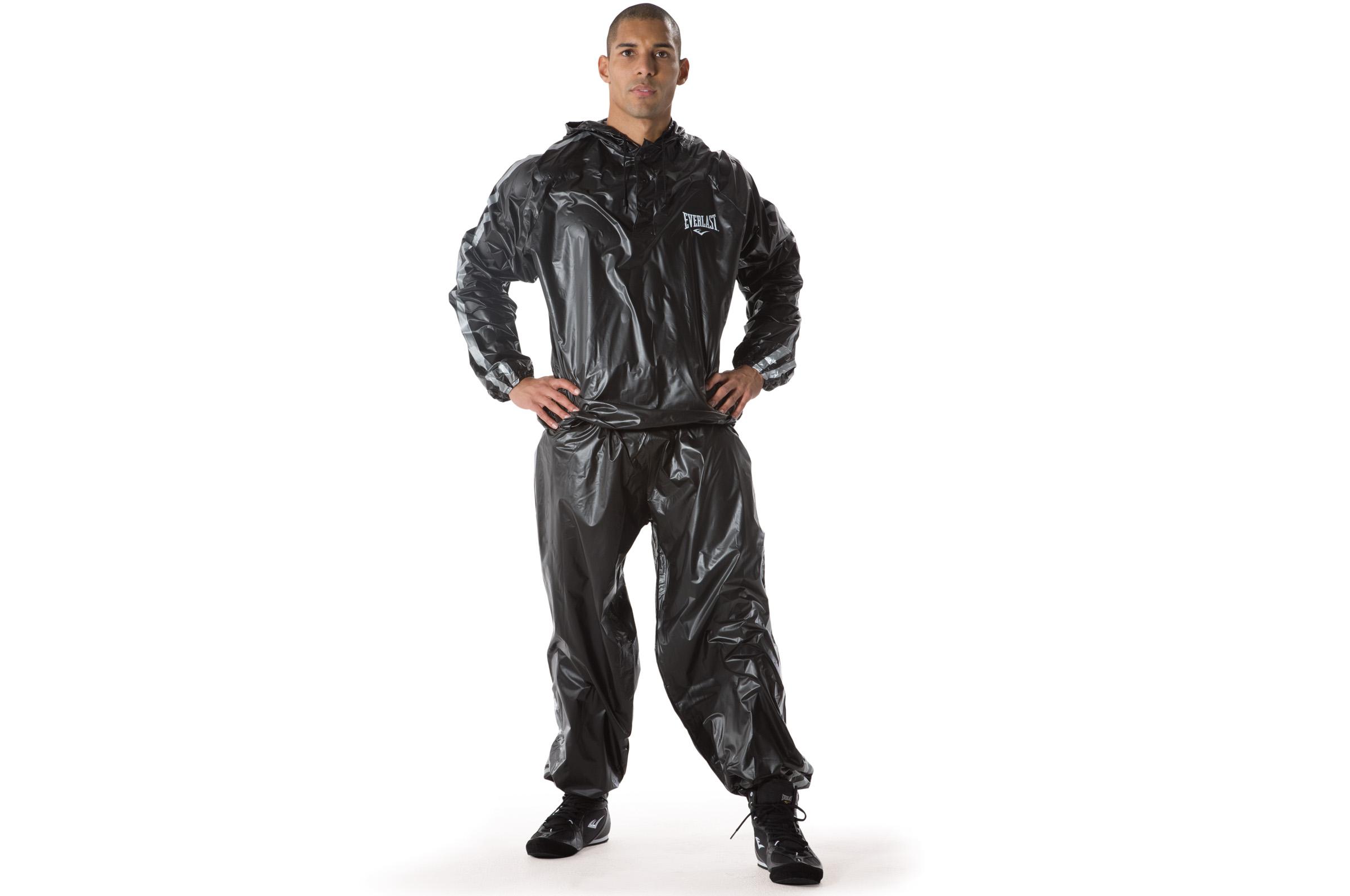 Everlast EX5013 Sauna Suit Black XL//XXL .