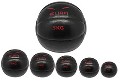 "Medecine Ball PU ""Black/Red"", Elion"
