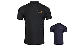 Rashguard, Gold Logo - short sleeves, Elion