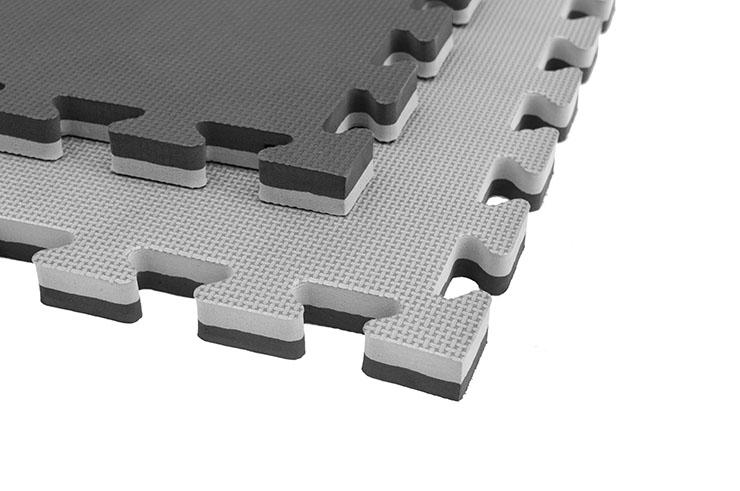 Puzzle Mat, 2cm, Black/Grey, T pattern, Multipurpose