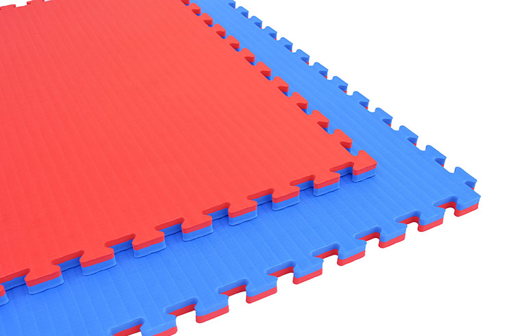 Puzzle Mat, 2.5cm, Blue/Red, Rice Straw pattern, Grappling Workout