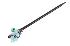 Hair brooch, Turquoise