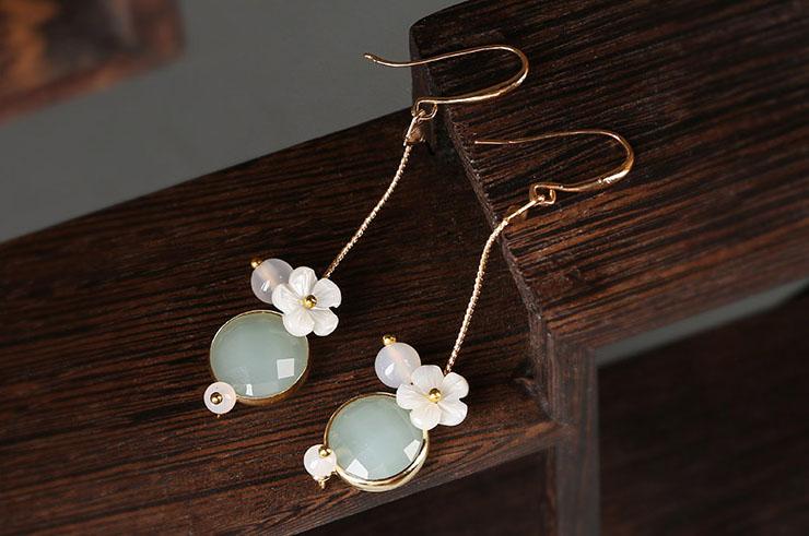 Earrings, Turquoise