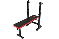 Weight bench, with Barbell weight Rack