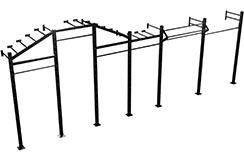 Cage Murale Flying Monkey Bars, Pull Up & Lift Offs