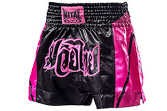 Muay Thai Boxing Short Femme, Metal Boxe TC62P